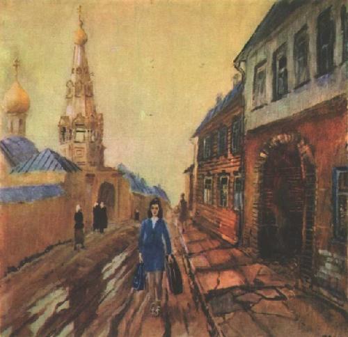 yuri-pimenov-stewardess-oil-1971